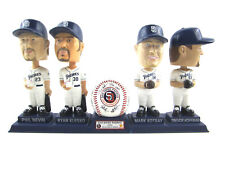 San Diego Padres Signature Baseball Four bobbleheads and stand 2002 Set