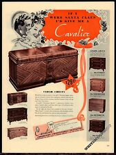 1941 CAVALIER Cedar Chest Antique Hope Chest AD 8 models shown