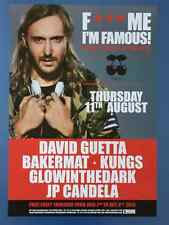 * IBIZA 2008 - 2016 * 9 PACHA - DAVID GUETTA - Poster DIN A2 * new * Promotion