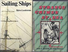 lot of 6 SAILING SHIPS Landstrom CRIMES SEA Davidson RAFT Trumbull STORM Stewart