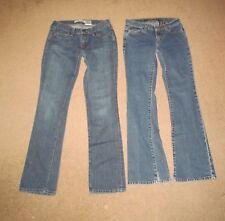 Lot 2 Jeans GAP Straight Boy Cut & DKNY Jeans Times Square Flare Juniors 1 R Reg