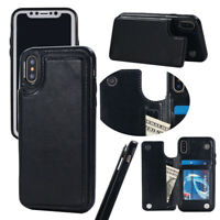 Leather Case For iPhone 12/11 Pro Max SE 2020 X XS Flip Wallet Card Holder Cover