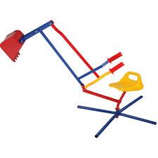 Tractopelle pince/pelle flexible bac à sable enfant - Jardin - Pivotant sur 360°
