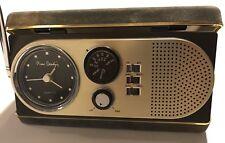 Pierre Cardin 1964-1970 AM / FM Portable Travel Clock Radio Model 1 Case Vintage