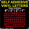 """SELF ADHESIVE VINYL LETTERS / 1"""" (25mm), 2"""",3"""" and 4"""" available /WATERPROOF/ S68"""