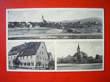Gruss aus Schönberg bei Lauf a.d.P. - Ansicht , Gaststätte , Kirche , gel.1936