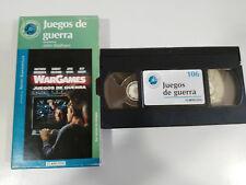 JUEGOS DE GUERRA MATTHEW BRODERICK BADHAM VHS CAJA CARTON CASTELLANO EL MUNDO