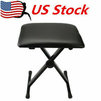 Adjustable Piano Keyboard Bench Comfortable Padded Seat Folding Stool Chair US