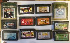 pack Lote juegos Nintendo game boy advance y game boy gba. Todos en inglés.