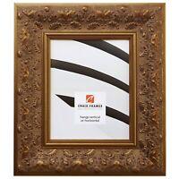 "Craig Frames Borromini, 3.5"" Ornate Gold and Bronze Picture Frame, Custom Sizes"
