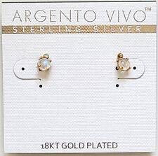 Argento Vivo mini stud earrings 5 mm Sterling Silver 18kt Gold Plated
