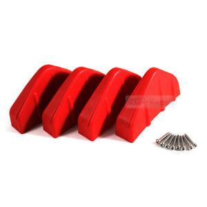 Rear Bumper Diffuser Molding Aero Parts Lip Fin Body Spoiler Red For FERRARI