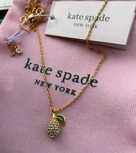 Kate Spade Picnic Perfect Paved Shaped Lemon Pendent necklace
