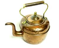 Antique Victorian Copper Kettle Teapot - FREE Shipping [5230]