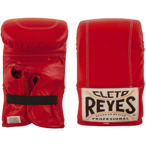 Cleto Reyes Leather Boxing Bag Gloves - XL - Red