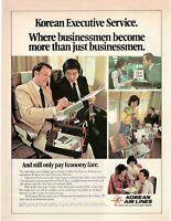 1981 Original Advertising' American Korean Air Lines Company Aerial Service