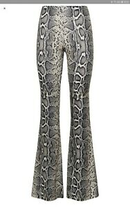 Bnwt NewLook Snakeskin Patterned Flared Trousers Size14