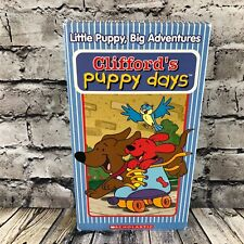 Clifford The Big Red Dog Puppy Days VHS Casette Tape