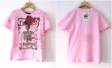 NWT h.NAOTO WOMEN'S PINK SKULL100% COTTON TEE SHIRT MADE IN JAPAN Sz-ONE SIZE