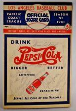 1941 PCL Baseball Program Signed by 16 Cedric Durst Bill Salkeld Herman Pillette