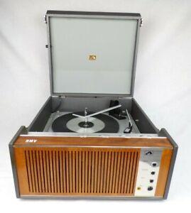 Vintage Record Player c.1968 HMV 2030 BSR UA15 Autochanger Working Transistor