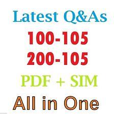 CISCO 100-105 & 200-105 CCNA CCENT ICND1 ICND2 TEST EXAM Q & A SIMULATOR & PDF