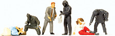 HO Preiser 10588 Hooded Robbers and Victims Figures