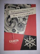 ORIGINAL  EXAKTA VAREX EXA IHAGEE DRESDEN 1959 Prospekt Kamera  DDR