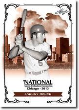 (12) JOHNNY BENCH - 2013 Leaf National Convention PROMO Cincinnati Reds Card LOT