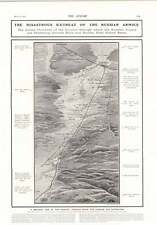 1905 Disastrous Retreat Of Russian Army Birds Eye View Map Tibet First White Men