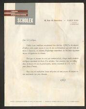 """PARIS (XIII°) MATERIEL pour ECOLES """"L'ECOLE EXPERIMENTALE / SCHOLEX"""""""