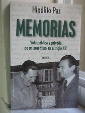 Hipolito Paz / Memorias: Vida Publica Y Privada De Un Argentino... (1999, P.B.)