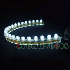4Pcs 24CM PVC 24LEDs 12V CAR TRUCK FLEXIBLE DRL DRIVING LED STRIP LIGHT WHITE