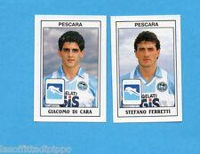 PANINI CALCIATORI 1989/90 -Figurina n.458- DI CARA+FERRETTI -PESCARA-Recuperata