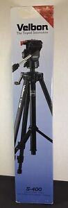 Velbon S-400 Deluxe Tripod with 3 Way Quick Release Panhead