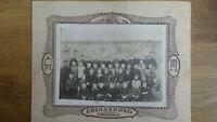 Großes CAB Foto Schönes Klassenfoto / Mädchen und Jungen - 1890er