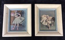 Two Edgar Degas Ballerina Lithos - 1948 Limited Edition - Hand Colored (Pochoir)