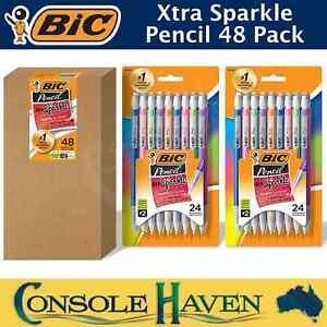 BiC Pencil Xtra Sparkle 48 Pack Mechanical Pencils #2 Medium Point 0.7mm Extra