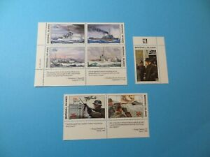 Stamps * MH Marshall Islands * MNH * Inscription Blocks * WWII * Lot 31