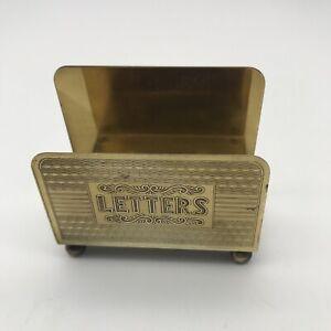 """Vintage Minature Letter Card Holder Rack 2.5"""" High x 2.75"""" Wide"""