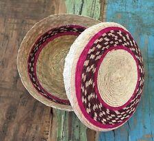 Autlentic Tortillero Palm Keeper Warmer Eco Mexican Folk Colorful Kitchen Decor.