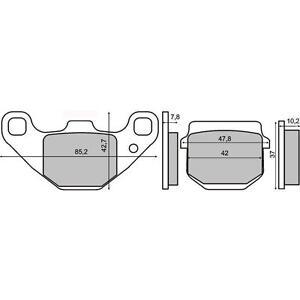 pastiglie freno POSTERIORI TGB R50 X Bullet 50  2010 > RMS 225102800
