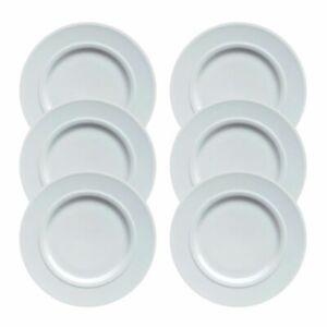 6 Hutschenreuther Louvre Weiss Frühstücksteller Kuchenteller 22 cm Porzellan