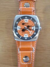 Paul Frank Gray Orange Arrow Up Watch Aluminum SERVICED KEEPS TIME