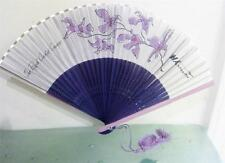 Vintage Thai International Airlines Fan Royal Orchid Purple Advertising Folding