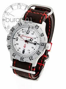 Vostok Komandirskie Reloj Automático Con Blanca Esfera Reloj Militar 10 Atm