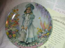 Collectible 1979 Mary, Mary plate 1st issue of Mother Goose series Bradford