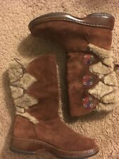 DANSKO FYODORA chestnut Brown Embroidered BOOTS SZ 38 7-7.5 EUC ret. $170
