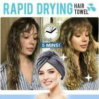 RAPID DRYING HAIR TOWEL CAP--Thick Absorbent Shower Cap 7 Colors