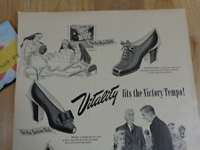 Vitality Shoes Magazine Ad Print 1943 WWII Fits the Victory Tempo